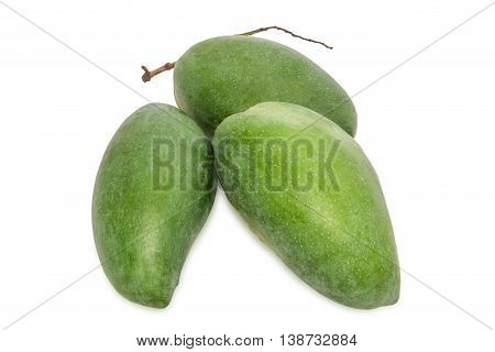 Fresh Mango - Fresh Green Mangoes Fruit Isolated On White Background