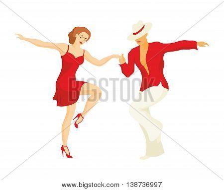 lady and gentleman dance Latin America dance salsa