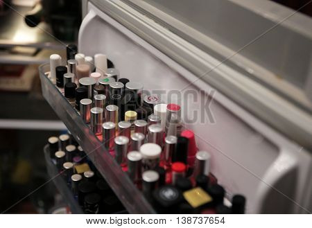 nail polish store inside cool refrigerator fridge