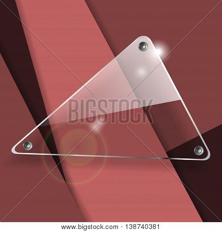 glass transparent vector banners. Bright vector design elements. Eps10 vector illustration