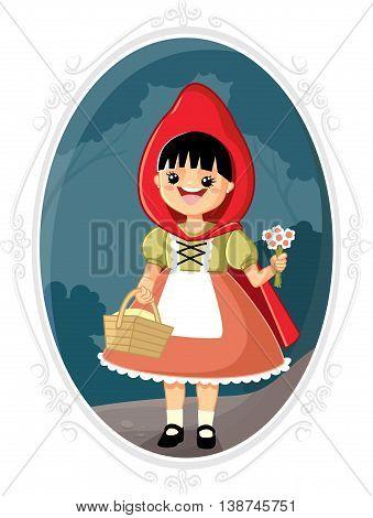 Little Red Riding Hood Vector Cartoon Fairytale Illustration