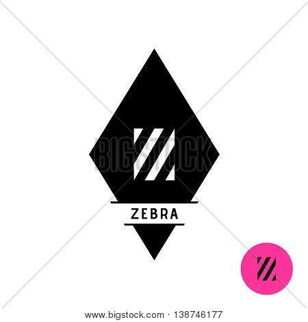 Letter Z logo. Zebra stripes fashion style symbol.