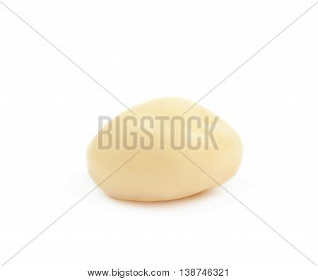 White chocolate candy ball isolated over the white background