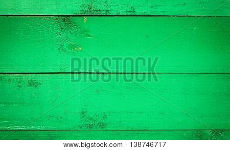 The old green boards. Horisontal retro background