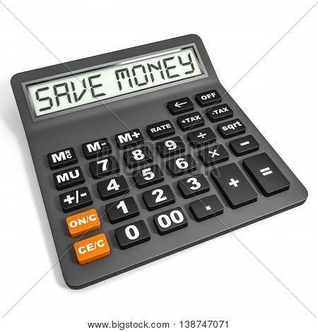 Calculator With Save Money On Display.