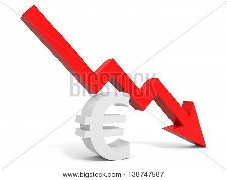 Graph Down Euro Sign Arrow.