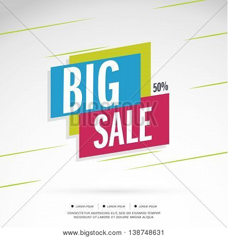 Big Sale Special offer. 50% off. Vector illustration.Theme Colorful.