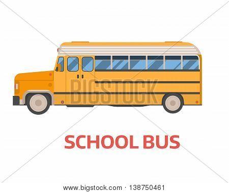 Retro School Bus Illustration