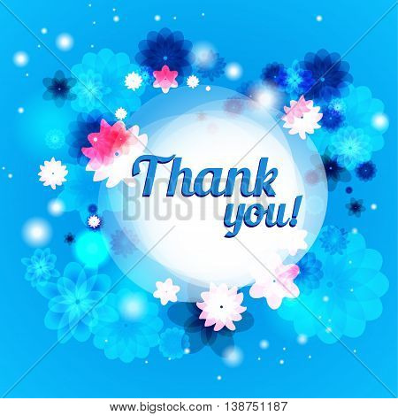 Thank you floral background with place for text