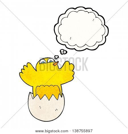 freehand drawn thought bubble textured cartoon hatching egg