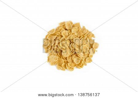 Cereals Corn flakes isolated on white background