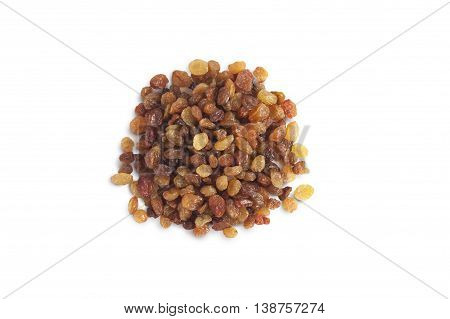 Mix color raisin isolated on white background cutout