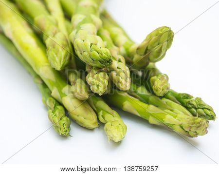 Fresh Asparagus Low Calorie Food On White
