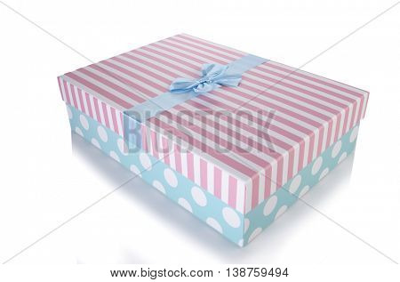 Giftboxes isolated on the white background