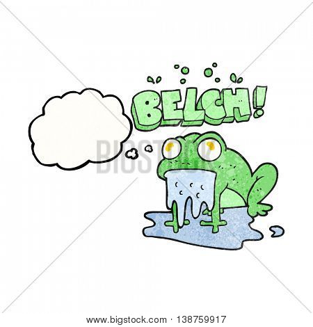 freehand drawn thought bubble textured cartoon gross little frog