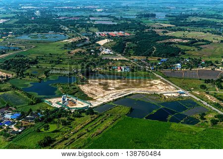 Industrial estate land development construction structure growth