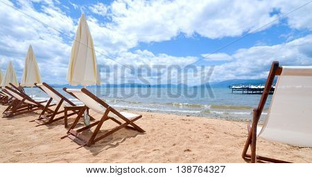 picture of a Beach on a Prespa Lake Macedonia