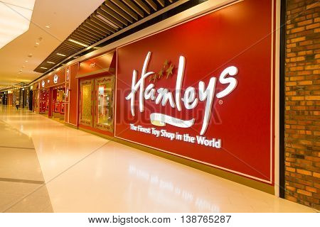 Kuala Lumpur, Malaysia, July 16, 2016: Hamleys Is An International Toys And Games Retailer With Stor