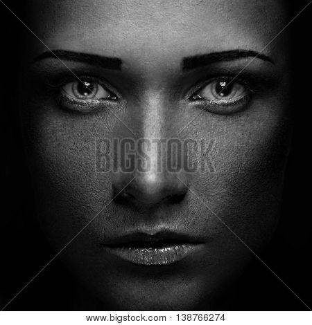Closeup Beautiful Woman