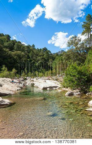 Cavu Natural Pool Near Tagliu Rossu And Sainte Lucie In Corsica Island, France