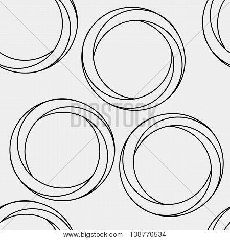 Pattern geometric seamless simple monochrome minimalistic pattern of impossible shapes, rounds.