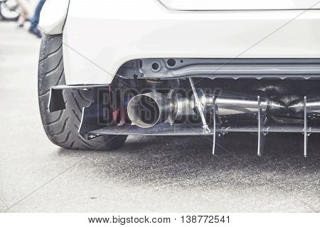 Exhaust Pipes Of A Modern Sports Car