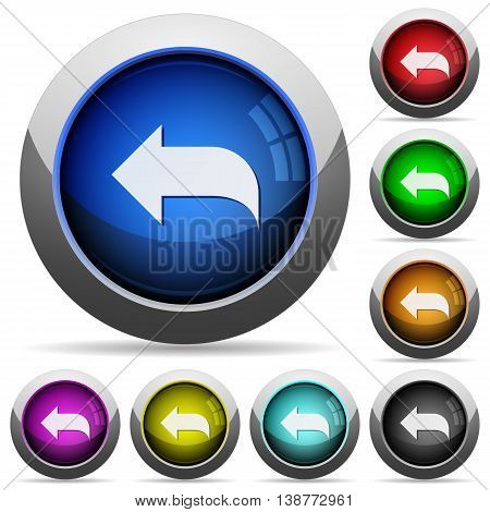 Set of round glossy Reply message buttons. Arranged layer structure.