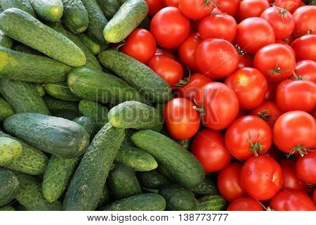 vegetables and fruits at the market in Vilnius, capital of Lithuania