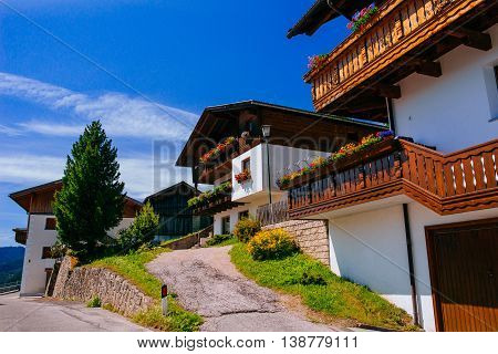 hotel at the height of the mountains