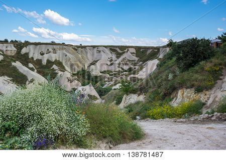 View on Pigeon valley in Cappadocia Central AnatoliaTurkey