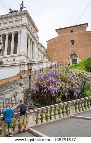ROME, ITALY - APRIL 6, 2016: Museums of Palatine hill, Rome