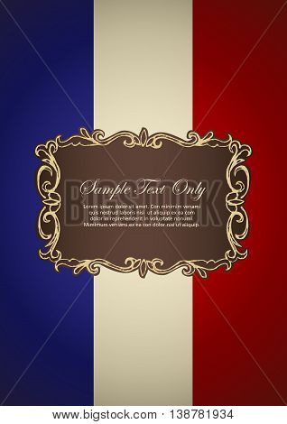 French insignia for book cover or background design template