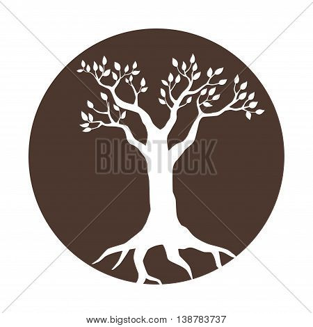 Illustration of a tree in a circle