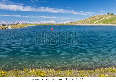 Reservoir Lake In The Mountains