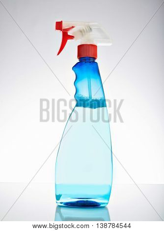 bottle of window cleaner. isolated on white background