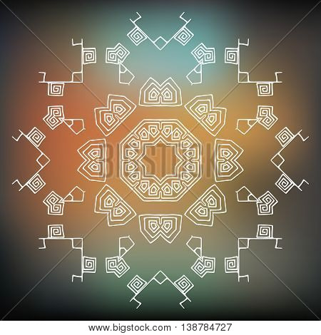 Tribal element, ethnic or aztec stile. Vector icon, logo design Brand identity