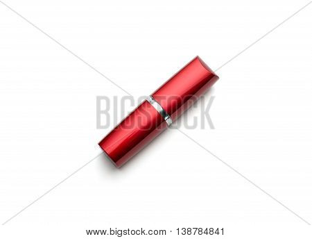 A Lipstick With Glossy Reflection Isolated On White Bacground