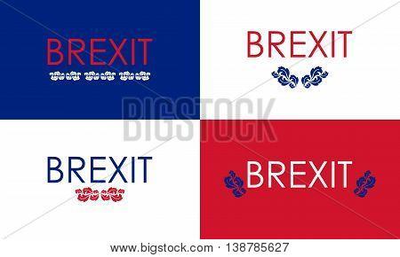 special floral brexit banners , vintage vector design