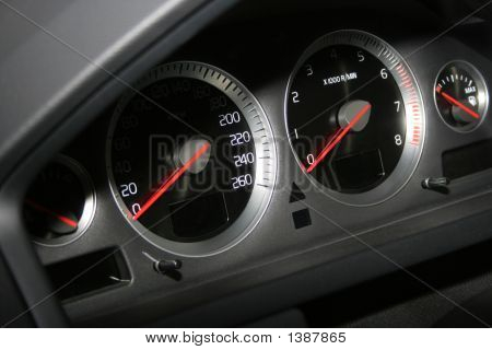 Speedometer And Tachometer