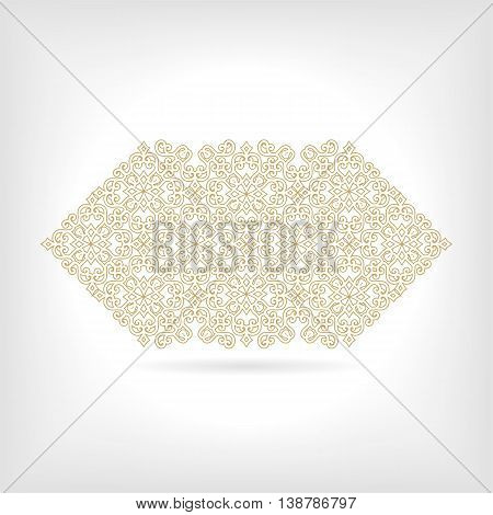 Vintage gold banner with vegetable elements, a vector illustration eps10