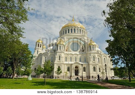 The majestic religious temple.Built in honor of Russian sailors and officers.