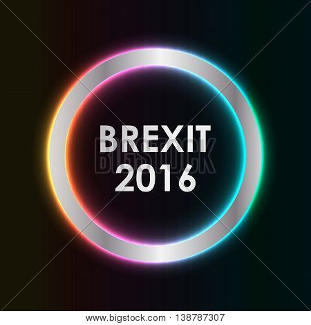 abstract brexit 2016 background, special vector design