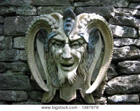 Sculpture Of The Satan/Devil. Symbol Of Evil/Bad.Religious Icon