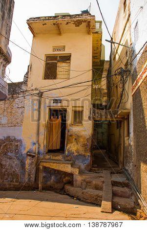 Street In The City. Pushkar. India.