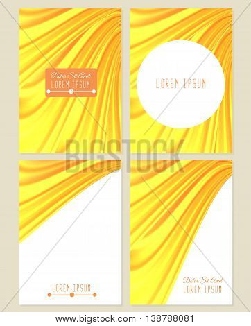 A set of four covers. Drapery. Size a4. Vector illustration eps10