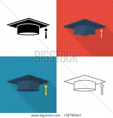 Graduation Cap Isolated