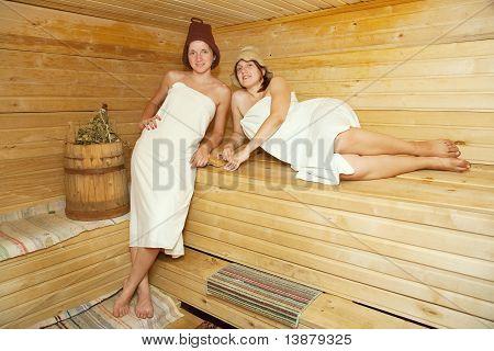 Women Is Taking Steam-bath