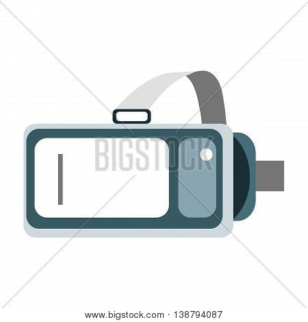 Helmet Virtual Reality Vr On A White Background. New Technology For Watching Movies And Games In 3D