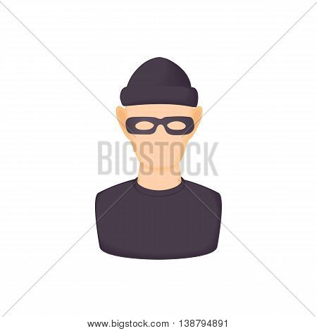 Bandit icon in cartoon style isolated on white background. People symbol