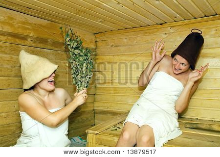 Girls  At Sauna